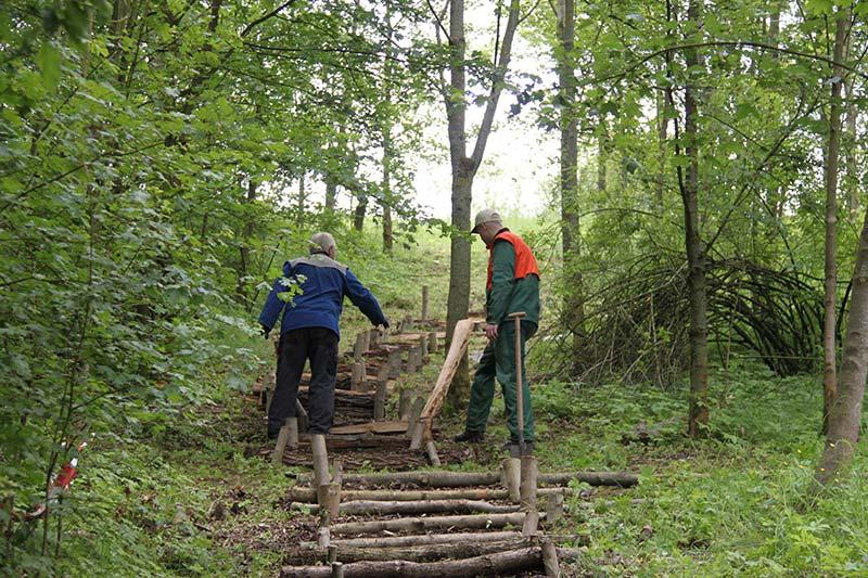 Bau der Stammstufentreppe