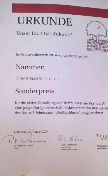 """Sonderpreis """"Unser Dorf hat Zukunft"""""""